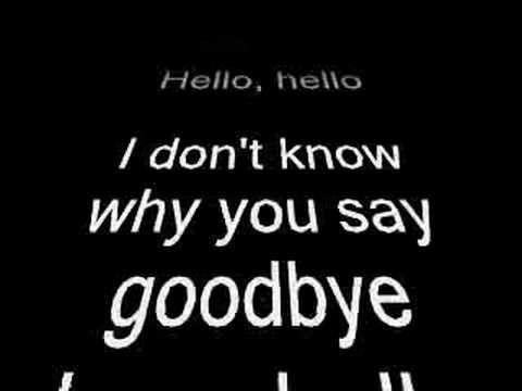 The Beatle's Hello Goodbye song with lyrics during the song. Good sound good lyrics, good song!