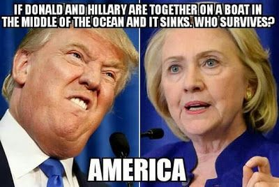 WTF Funny Political Meme: Hillary vs Trump LOL