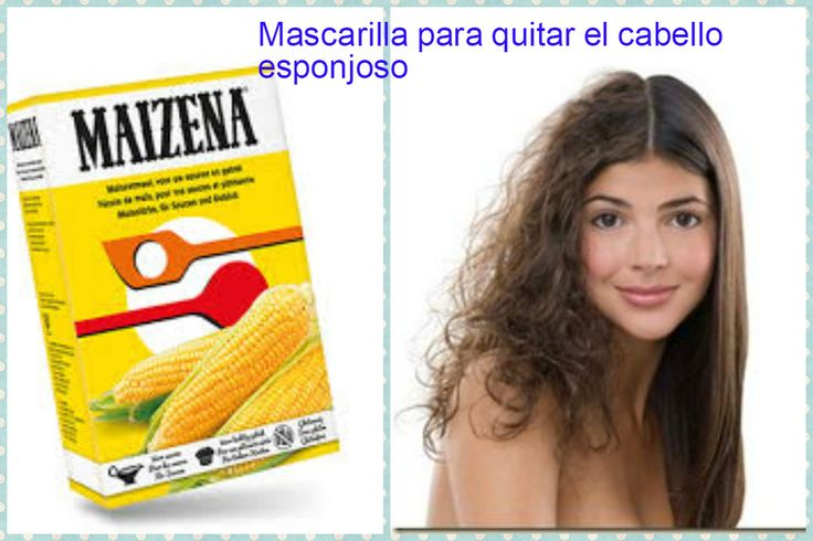 Mascarilla casera con maizena para quitar el cabello esponjoso