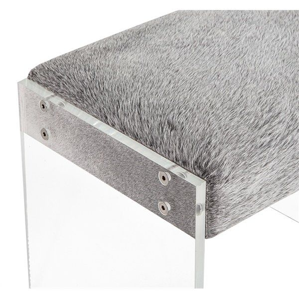 Aiden Upholstered Bench In 2020 Cowhide Bench Upholstered Bench Modern Bench