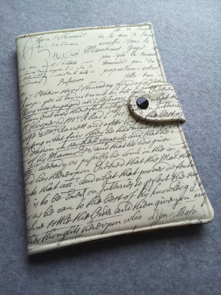 Nexus 7 , Kindle Fire Cover, Kindle cover, Nook, eReader Cover, Book Style, Old Script ..Made to order. $38.00, via Etsy.
