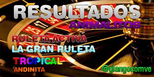 Resultado de la Ruleta Activa - La Gran Ruleta - Tropical - Andinita http://ift.tt/2rtc4QA