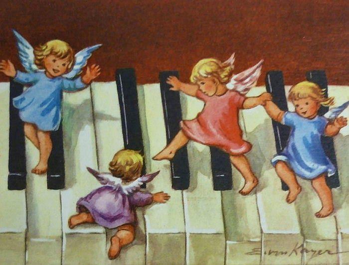ANGELI CON IL PENNELLO: Gli Angeli di Erica von Kager