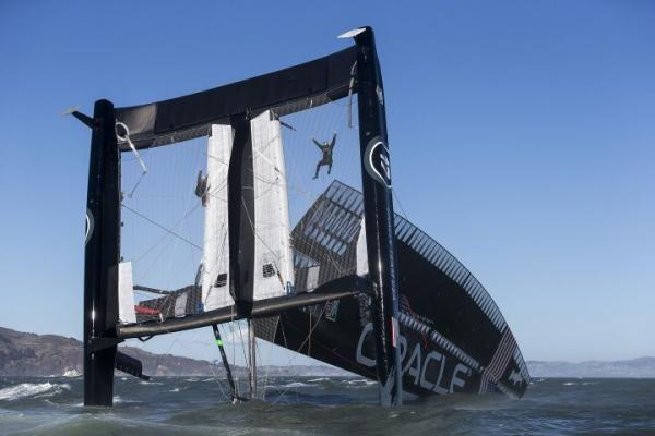 AC72 capsize in San Francisco Bay