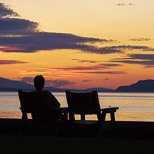 Qualicum's waterfront at sunset (Picture BC photo)