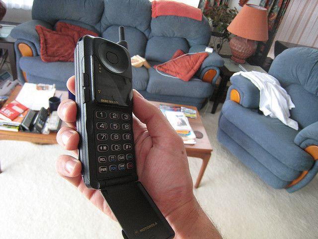 My old Motorola Microtac phone in NZ by escottf, via Flickr