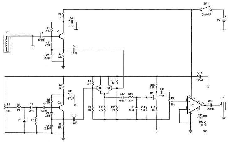 Simple BFO metal detector