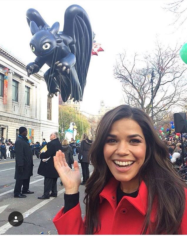America Ferreira (Astrid) and Balloon Toothless