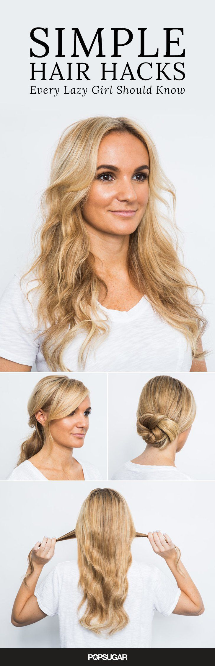 Here are the best hairstyles for lazy Summer days.
