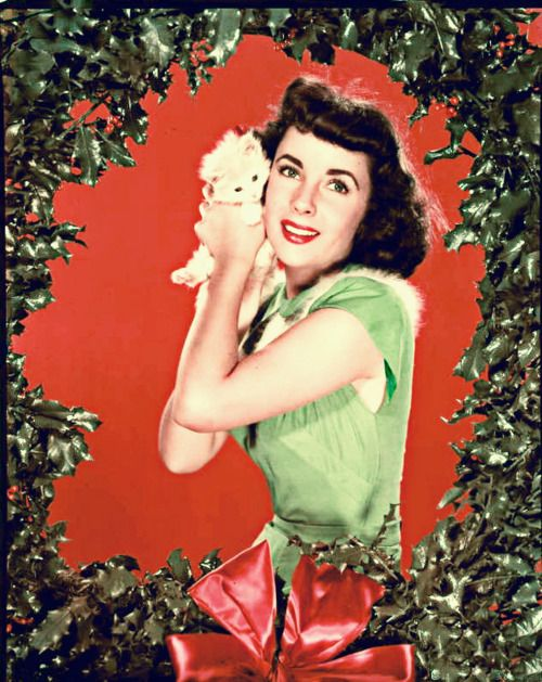 Retro Hollywood Christmas Liz Taylor