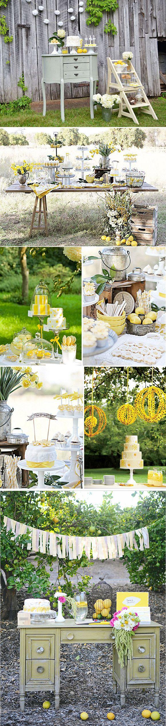 Decoración en amarillo de bodas y fiestas