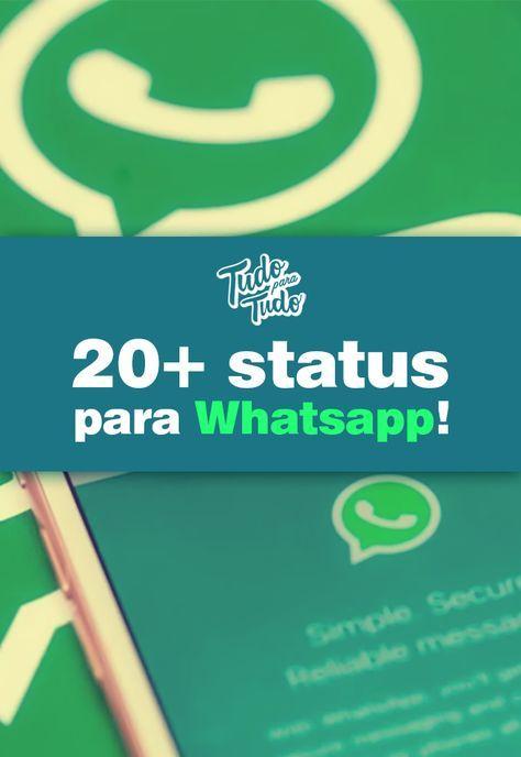 20+ status para Whatsapp! Confira http://www.tudoparatudo.com/tecnologia/status-para-whatsapp