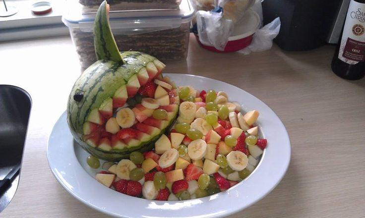 En sjov måde, at præsentere frugt for børnene