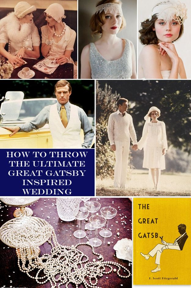 "How To Throw The ""Great Gatsby"" Wedding Of Your Dreams"