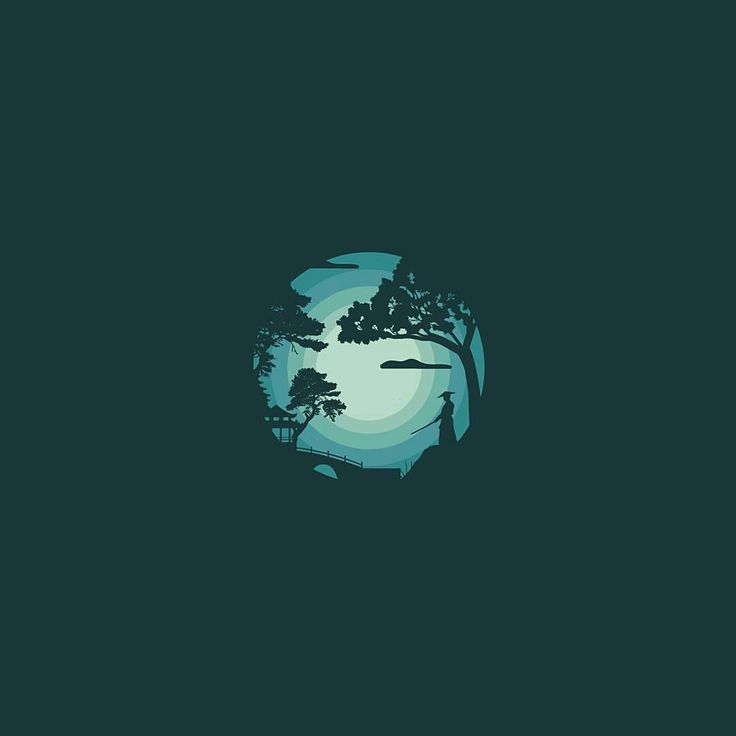 #logoawesome from @prashanthm_mdg . . . .  #photooftheday #picoftheday #landscape #japanese #illustration #vector #Graphicdesign #ninja #art #beauty #creative #turquoise #nature #design #adobe #dribbble #silhouette