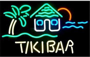 Neon Sign Tiki Bar Palm Tree Tiki Hut Beerbar Sign Neon Beer Sign 19X15 Avize Nikke Neon Sign Stihll Chainsaw Price Neon Lights
