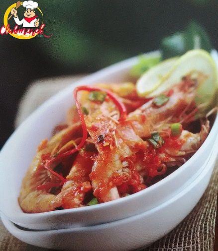 Resep Udang Saus Padang, Resep Makanan Seafood Udang, Club Masak
