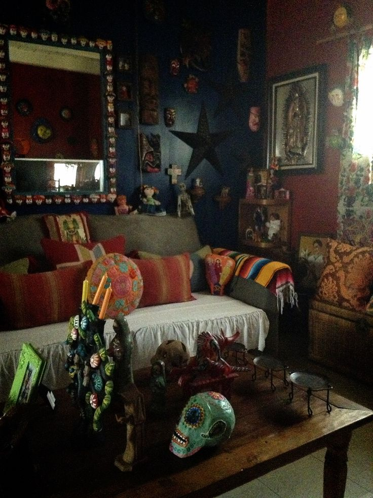 Mexican Living Room #decoration #mexican