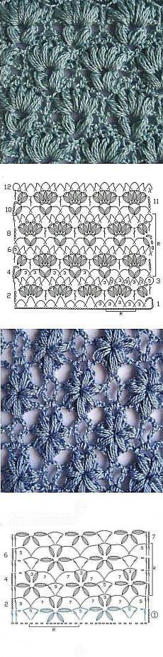 Openwork crochet patterns ༺✿ƬⱤღ  https://www.pinterest.com/teretegui/✿༻