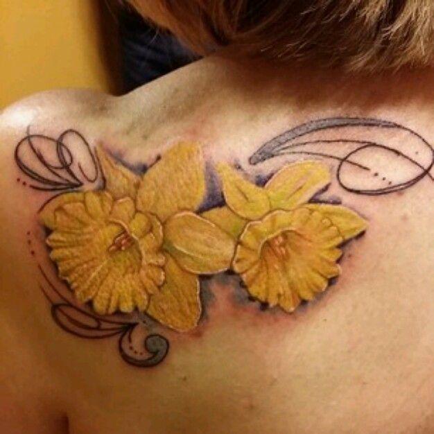 Brooke Hume Tattoo: Daffodil Tattoo
