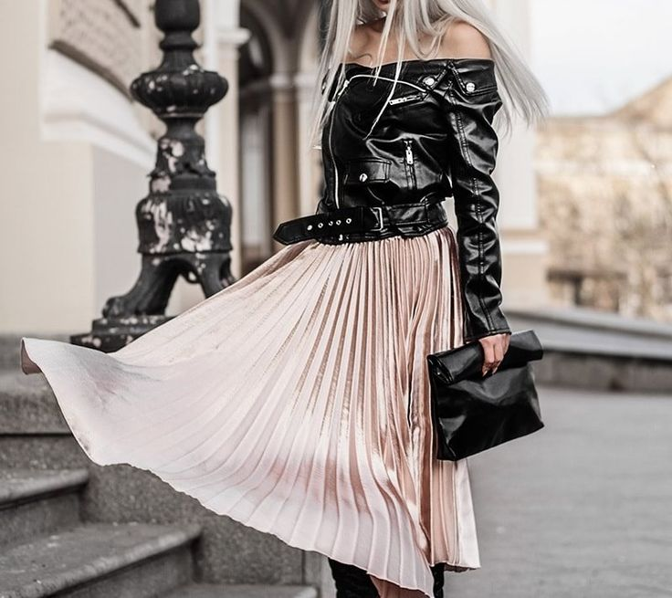 Autumn Long Pleated Skirt