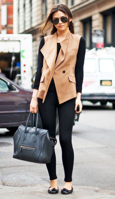 Love the trench-vest. This is perfect for traveling and seeing places during layovers (think paris, london, amsterdam) ... the clothes don't take up much room in your suitcase. The flats are comfy to walk around in and are much better than traveling around india with boots.