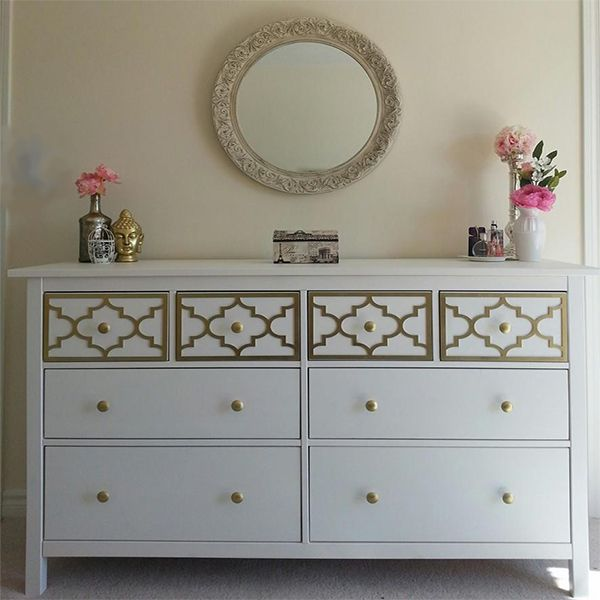 Overlay Jasmine Kit for Top Drawer Only of IKEA Hemnes 8 drawer dresser
