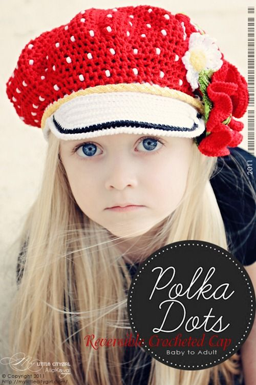 Adorable crochet hat. Little girl is soo pretty too !