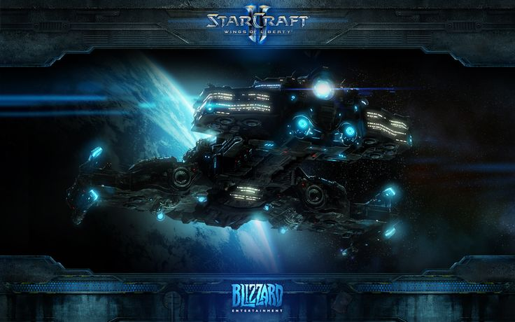Starcraft Spaceship [wide]