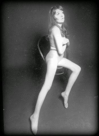 Panty hose model  Kim Eccleston