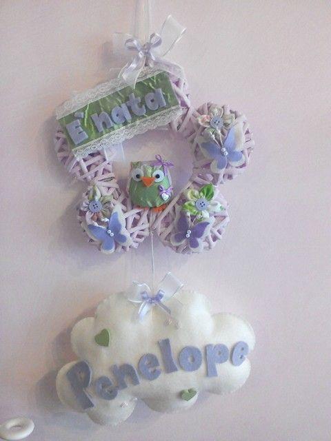 Fiocco nascita Penelope! www.minimondodianita.com