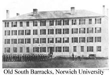 The Alpha Chapter of Theta Chi Fraternity was founded here in 1856
