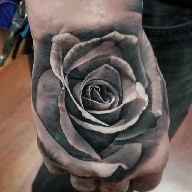 29 best gray rose tattoo stencil hand wash images on pinterest rose tattoo on hand in category tattoo artists urmus Images