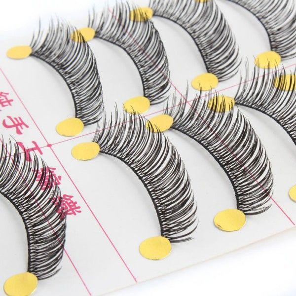 Handmade 10 Pair Thick Natural Makeup False Eyelashes Artificial Fake Eyelash Eye Lashes New