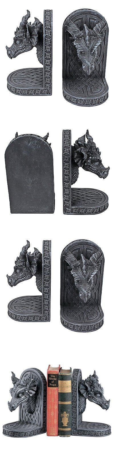 Bookends 20551: Design Toscano Gray Friar Dragon Bookends -> BUY IT NOW ONLY: $48.63 on eBay!