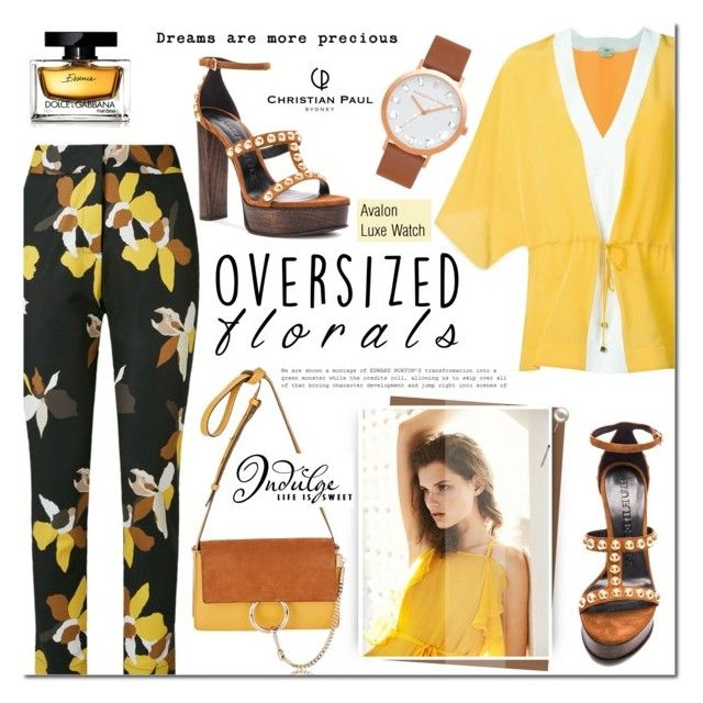 Oversized Florals by mada-malureanu on Polyvore featuring Fendi, Andrea Marques, Burberry, Chloé, Dolce&Gabbana, oversizedflorals and christianpaul