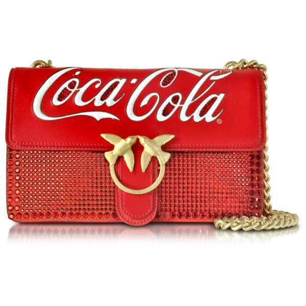 Pinko Handbags Love Cioccolato Red Leather Shoulder Bag w/Golden Chain ($450) ❤ liked on Polyvore featuring bags, handbags, shoulder bags, hand bags, man shoulder bag, leather hand bags, chain strap shoulder bag and man bag