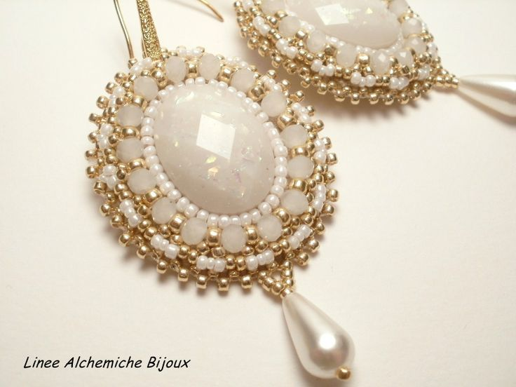 Bead embroidery earrings tutorial clik on link for the