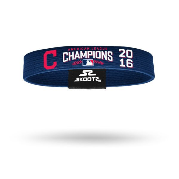 Cleveland Indians 2016 American League Champions Skootz Bracelet, Today's Sale Price: $7.99 -  You Save: $2.00