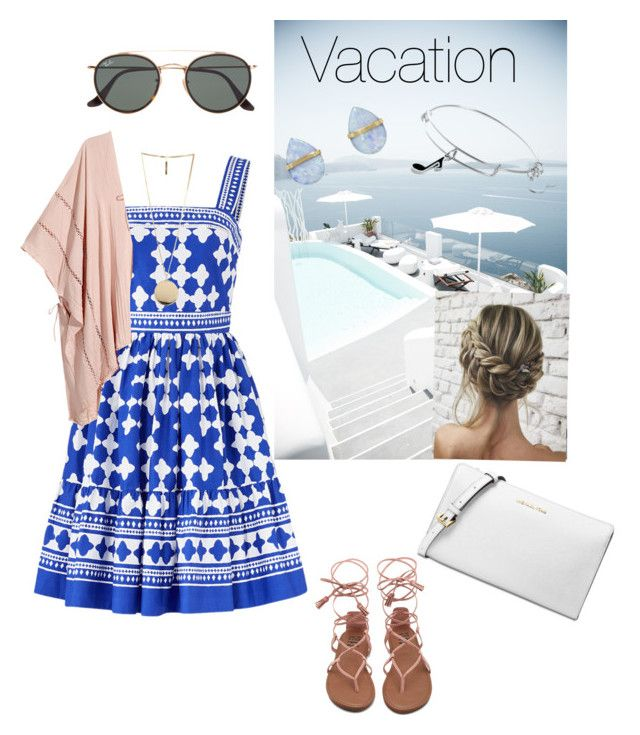 """""""Summer vacation"""" by pusheencute on Polyvore featuring Kate Spade, Givenchy, Ray-Ban, Melissa Joy Manning, Alex and Ani and Michael Kors"""