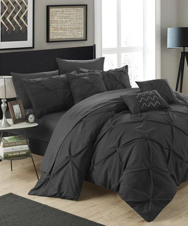 Loving this Black Maurizio Ten-Piece Comforter Set on #zulily! #zulilyfinds