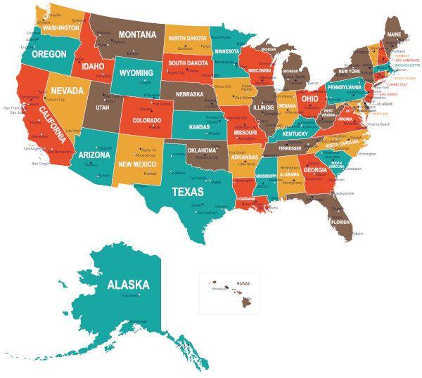 Mapa Dos Estados Unidos Mapa Politico Estados E Capitais Para Colorir Em 2020 Mapa Dos Estados Unidos Estados E Capitais Mapa Eua