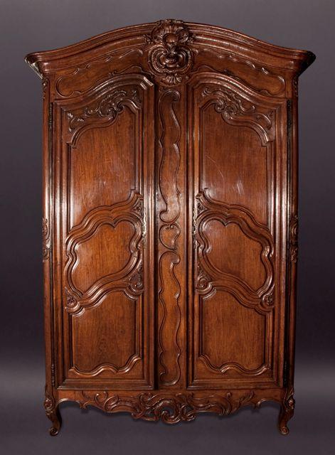 louis xv walnut armoire armoires pinterest armoires antique furniture and vintage furniture