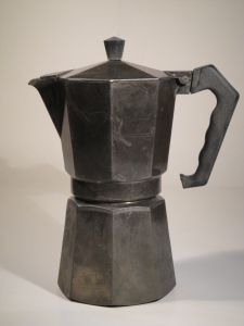 The Moka Express Alfonso Bialetti, 1933 Italy This unusually shaped coffee maker became a classic design with its eight sides. Also making use of aluminium that was not used domestically very often at the time, but soon gained popularity. Alfonso was originally an engineer who worked in the French aluminium industry.  This type of coffee maker (the moka pot) was first patented by Luigi De Ponti for Bialetti in 1933.