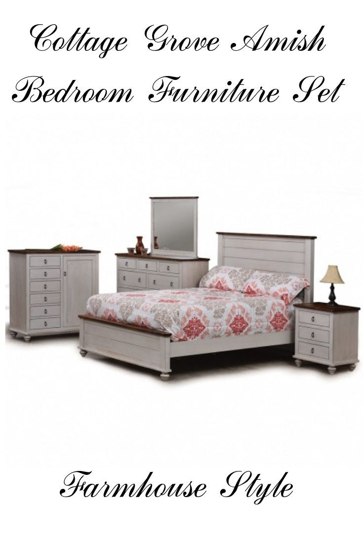 Cottage Grove Amish Bedroom Furniture Set Rustic Bedroom