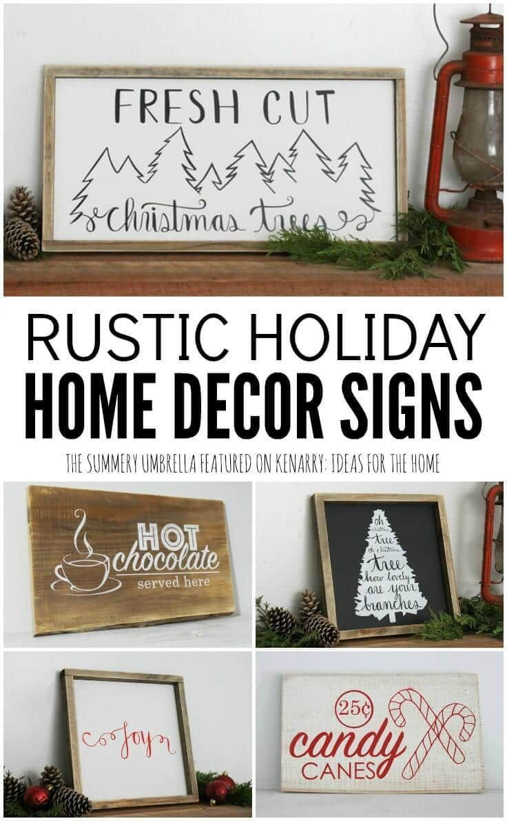 Holiday Home Decor Signs and Free Printable | Winter Ideas ...