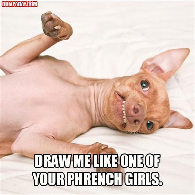 draw me like one of your phench girls - Dump A Day