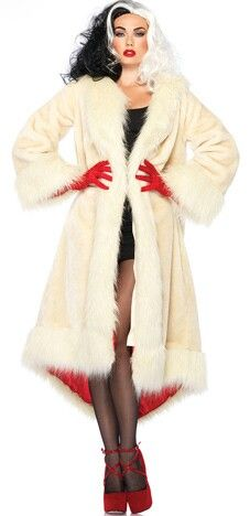 Cruella DeVille /// 101 Dalmatians Disney Women's Costume Halloween Modest Sexy Female Halloween Costumes