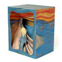 illusion box - make a homage to an artwork that uses perspective in the form of a 3D box yr 9-10