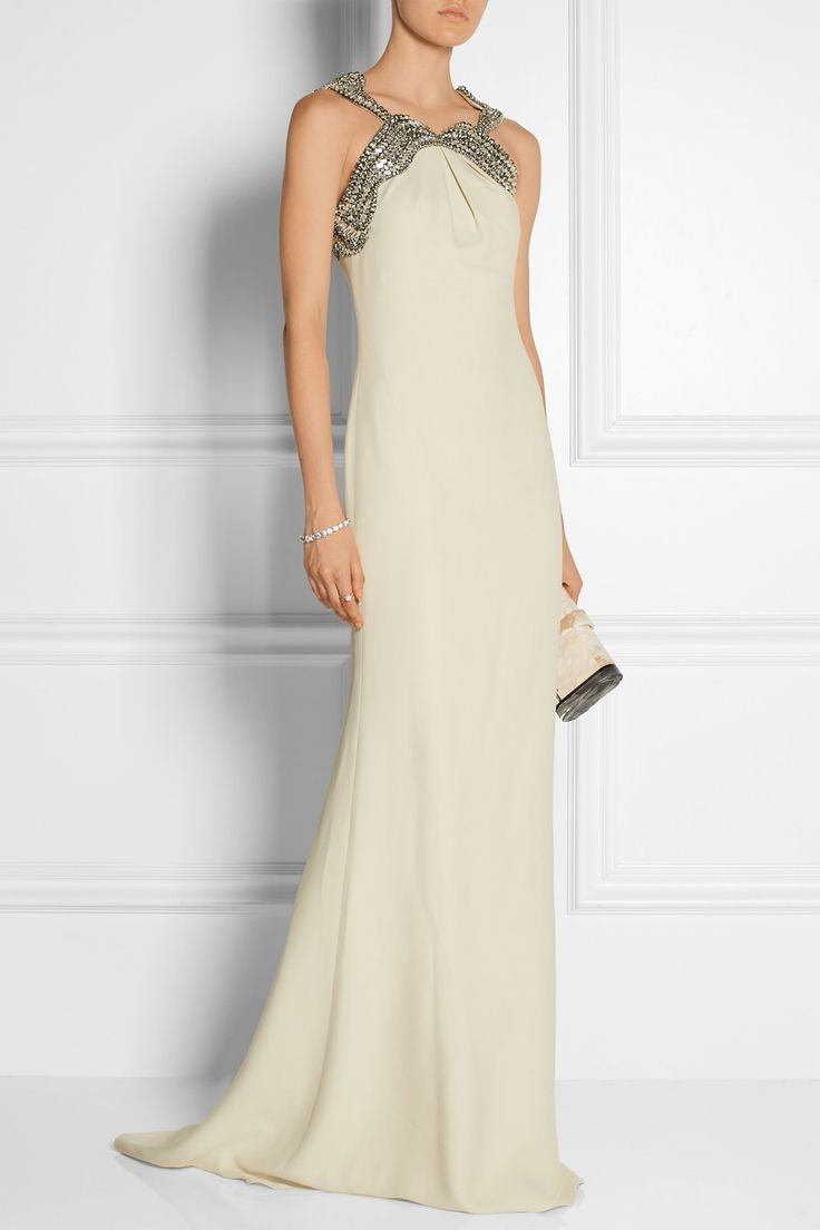 Gucci | Embellished Silk-cady Gown | NET-A-PORTER.COM | Dresses | Pinterest | Gucci Gowns And Silk
